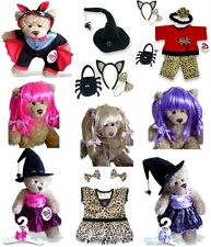 Teddy Bear Clothes fit Build a Bear Halloween Party Devil Witch Hat Spooky Cat