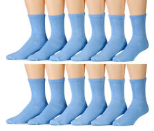 12 Pairs of Womens excell Diabetic Crew Socks, Cotton Socks, sock size 9-11