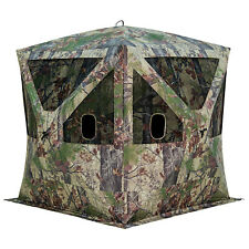 Ground Hub Hunting Blind Portable Camo Shelter Large Camouflage Pop Up Tent