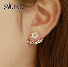 Fashion Jewelry Cute Cherry Blossoms Flower Stud Earrings for Women Several Peac