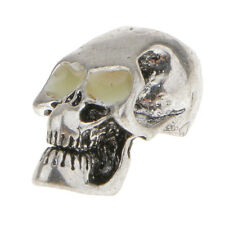 1pc Tibetan Silver Skull Bead Charm for Jewelry Making DIY Findings