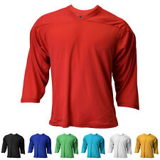 New Reebok / CCM Youth 3/4 Sleeve Air-Knit Hockey Practice Jersey in 7 Colors