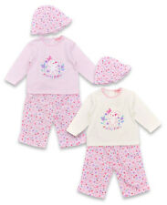 Girls Baby Puppy 3 Piece Top Trousers Hat Set Newborn to 9 Months CLEARANCE SALE