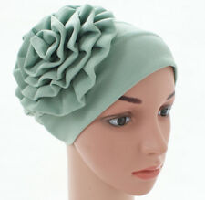 Women Flower Hat Muslim Turban Islamic Ladies Headwrap Chemo Cap Hijab Cap New