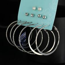 New Fashion Punk Crystal Stud Earrings For Woman Simulated Imitation Pearl Alloy