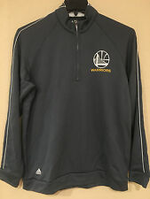 Golden State Warriors 1/4 Zip CLIMALITE Performace Pullover Gray Color by Adidas