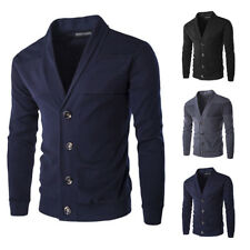 Stylish Mens Slim Fit V Neck Knitwear Pullover Sweater Jacket Coat Tops Cardigan