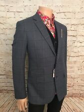 Luxury Wool Sports Jacket, Blue Check, Size 42 Reg, Brand New With Tags.