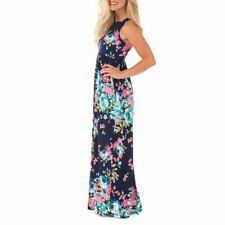 Women New Boho Floral Printed O-neck Summer Pleated Casual Plus Size Dress