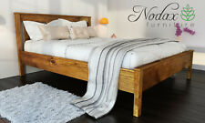 *NODAX* Sturdy Wooden Pine King Size Bed 5ft Wooden Bed frame&Slats 'F17'