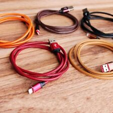 3FT Leather Data Sync Cord Fast Charger USB Data Sync Charger Cable Data Cable