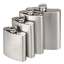 Stainless Steel Flask Hip Flask Screw Cap Liquor Alcohol Whiskey Pocket Flask