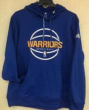Golden State Warriors Men's Adidas Pullover Climawarm Hoodie Royal Blue color