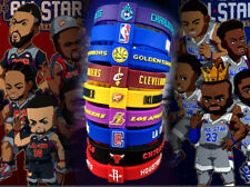 12 Teams Silicon Rubber Basketball Star Bracelet Adjustable Wristband Strap Cuff