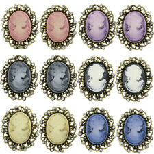 12pcs Vintage Cameo Victorian Crystal Wedding Party Women Brooch Pin Jewelry