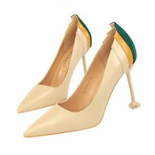 Artificial PU Muilt-color Simple Stiletto High Heel Pointed Toe Women Pump Shoes