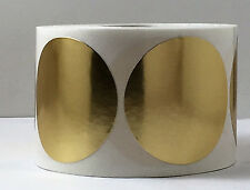 """50 2"""" Round Gold/Silver, gloss/ satin Foil Seals Labels Notary Seal Emboss"""