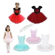 Kids Girls Tutu Skirt Ballet Leotard Dance Dress Gymnastics Dancewear Costume
