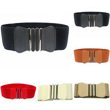 Lady Buckle Wide Stretch Girl Waist Elastic Belt Corset Waistband Dress Belt DIY