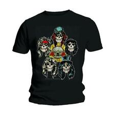GUNS N' ROSES MEN'S TEE: VINTAGE HEADS AXL ROSE SLASH ROCK BLACK T-SHIRT