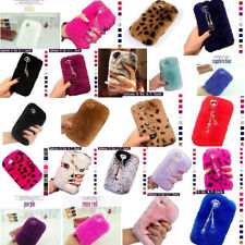 3D Diamond Bling Chain Pendant Warm Soft Fur Case Cover For iPhone 6/6S/6+/6S+