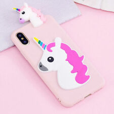 3D Cartoon Unicorn Silicone Rubber Case Cover For Samsung Huawei iphone Phones