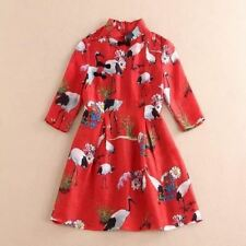 Red Color Short Sleeve Ball Gown Casual Wear Knee Length Dress For Women