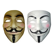 V for Vendetta Mask Adult Men Guy Fawkes Anonymous Occupy Halloween Costume Prop