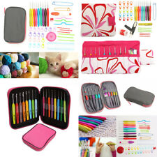 Crochet Hooks Set Knitting Needle Organiser Case Kit Weave Yarn Craft Tools