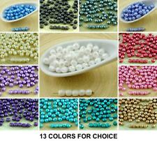 100pcs Pastel Pearl Czech Glass Round Faceted Fire Polished Beads Small Spacer 4