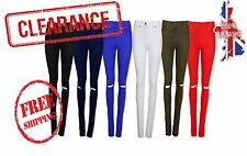 NEW WOMENS RIPPED JEANS KNEE CUT JEGGINGS SKINNY FIT STRETCHY LADIES DENIM 8-20