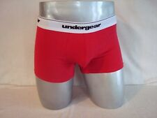 UNDERGEAR Red Pouch-Front Cotton Stretch Men's ESSENTIAL TRUNK Boxer Brief NEW