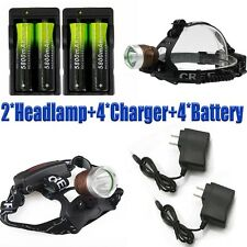 Tactical 20000Lumens LED Headlamp XM-L T6 LED Focus Headlight Lamp 18650+Charger