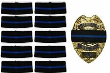 10-PACK Hero's Pride Thin Blue Line Stripe Mourning Band for Police Badges 3/4
