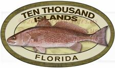 Ten Thousand Islands Fishing Stickers (Pack of 2) Redfish decal Florida