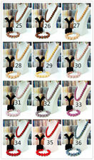 Ladies New Jewelry Sea Shell Pearl Necklace Bracelet Earrings Women Fashion Set
