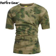Gear Military Camouflage Tactical T-shirt Men Summer SAWT US Army Combat