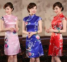 Hot CHARMING Chinese women's silk/satin evening Mini dress/Cheongsam QIPAO