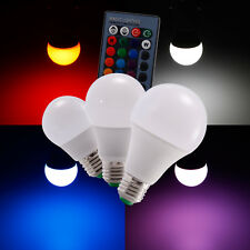 3W/5W/10W 16 Color Changing E27 RGB LED Lamp Light Bulb w/ IR Remote Control