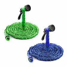 25/50/75/100FT EXPANDABLE FLEXIBLE GARDEN HOSE PIPE 3x EXPANDING & SPRAY NOZZLE