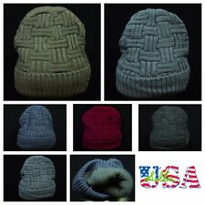 Plain Beanie Casual Hat Knit Ski Thermal Fashion Winter Slouch Hats Oversize