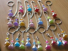PRETTY GUARDIAN ANGEL/FAIRY CHARM ON KEYRING OR CLIP ON YOU CHOOSE