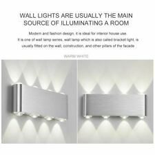 Rectangle 8W LED Wall Sconces Light Up Down Wall Lamp for Bedroom Home Decor XP