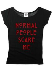 AMERICAN HORROR STORY NORMAL PEOPLE SPECIAL Girl's Top Women T-Shirt Black