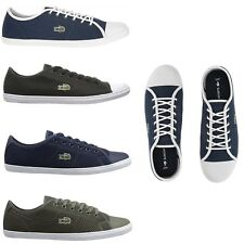 Lacoste Women Fashion Casual Lace Up Shoes NEW Ziane 316 Canvas Sneakers