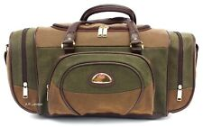 Leather Weekend Bag Travel Duffle Sports Cabin Gym Holdall Luggage Faux Suede UK