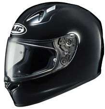 HJC Adult FG-17 Solid Black Full Face Motorcycle Helmet Snell DOT