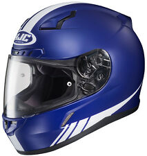 HJC Adult CL-17 Streamline Blue/White Full Face Motorcycle Helmet Snell DOT