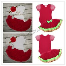 Toddler Baby Girls Xmas Romper Tutu Skirt Clothes Christmas Outfits Fancy Dress