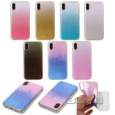 For iPhone X bling Glitter Soft TPU phone case protective skin rubber silicone